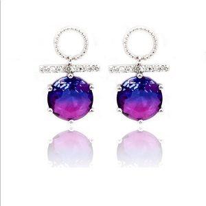 Beautiful purple crystal earrings